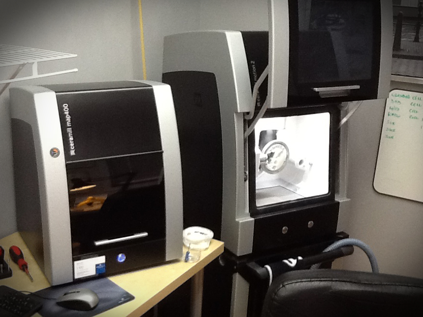 Our in house 5 axis milling centre allowing us to service you and your patients better, with a full range of materials all health Canada approved!